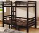 Coaster Twin Size Convertible Loft Bed Cappuccino   Coaster Furniture   CS460263
