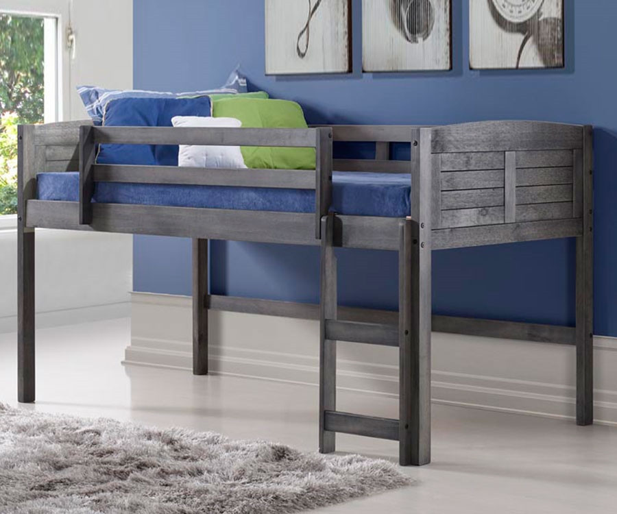 Amherst Low Loft Bed Antique Grey 790aag Donco Trading Kids