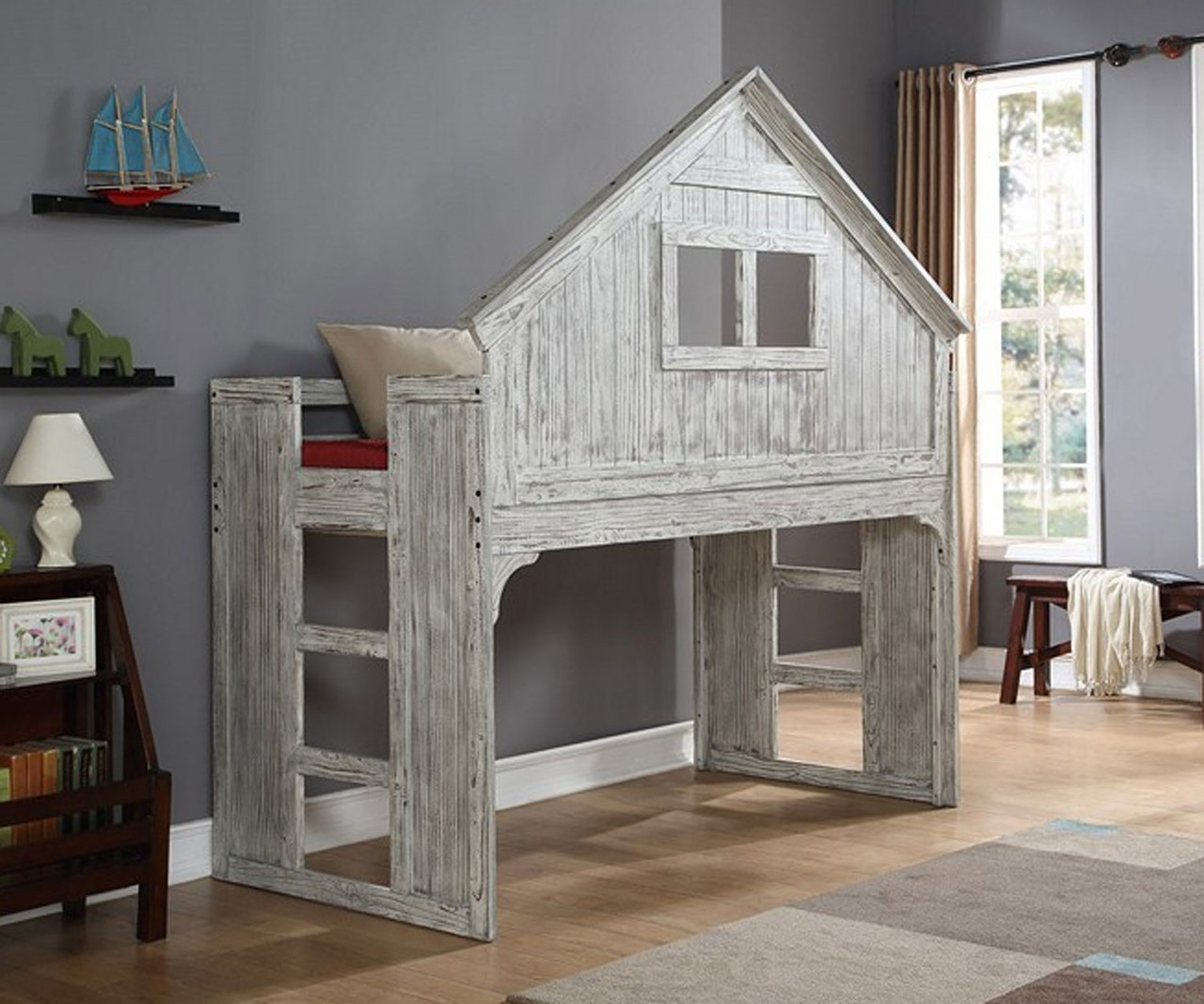 Picture of: Twin Size Loft Bed Shop Kids Loft Beds And More At Kids Furniture Warehouse