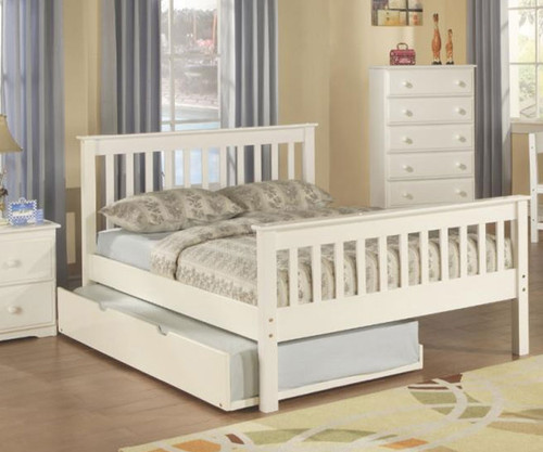 Monaco Full Size Bed White | Donco Trading | DT119FW-CL