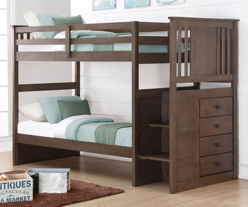 Princeton Stairway Bunk Bed | Donco Trading | DT2204SG