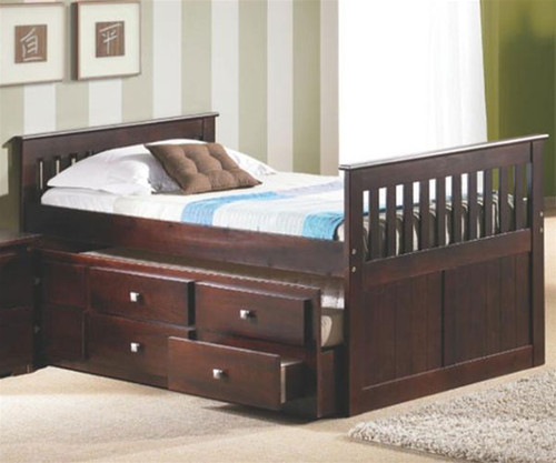 Mission Captains Trundle Bed Capuccino 1 | Donco Trading | DT303CP-CL
