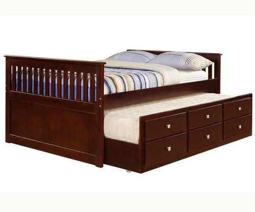 Donco Trading Cappuccino Trundle Captains Beds In Full