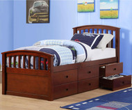 Donco Captains Storage Bed Cappuccino | Donco Trading | DT425CP