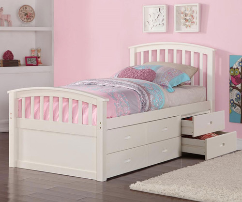 Donco Captains Storage Bed White | Donco Trading | DT425W