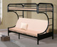 Donco C-Shaped Futon Bunk Bed Black | Donco Trading | DT4509-3BK