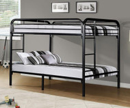 Donco Full over Metal Bunk Bed - Black | DT4510-Black Solid Wood Beds Space-saving Full-Size