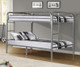 Donco Full over Full Metal Bunk Bed - Silver   Donco   DT4510-Silver