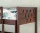 Circles Low Loft Bed Twin Size Cappuccino   Donco Trading   DT780ATCP