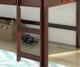 Circles Low Loft Bed Twin Size Cappuccino   24948   DT780ATCP
