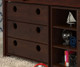 Circles Low Loft Bed with Storage Twin Size Cappuccino | 24954 | DT780ATCPX