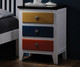 Colorful 3 Drawer Nightstand   Donco Trading   DT993C