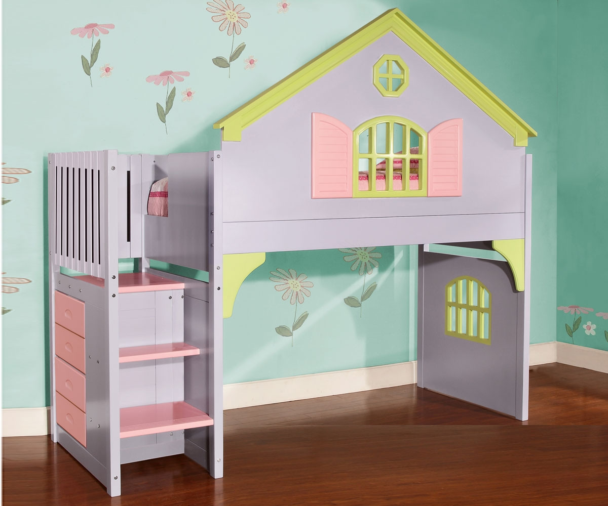 0300 Doll House Stair Stepper Loft Bed Discovery World