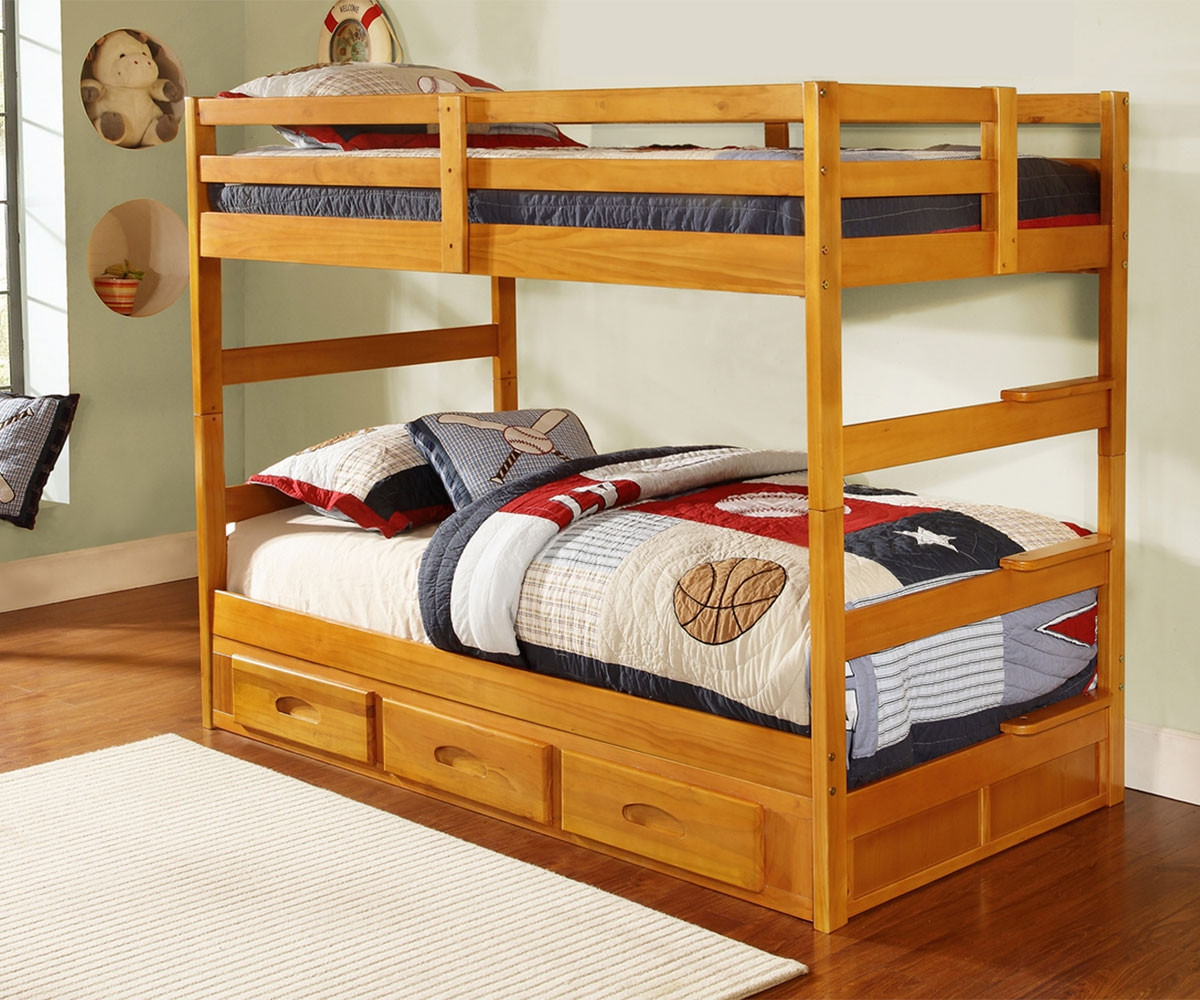 Picture of: 2108 Promo Bunk Bed Cheap Solid Wood Bunk Bed Discovery World Furniture