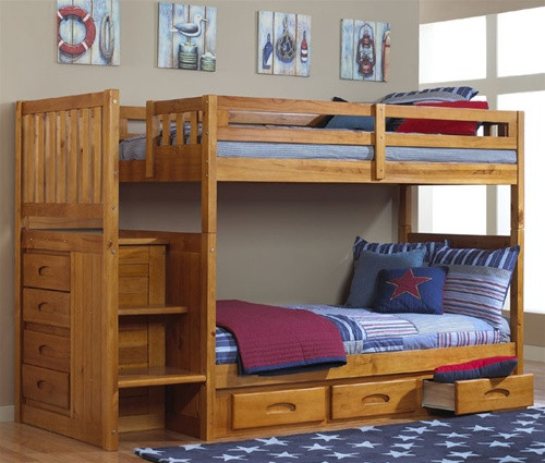Honey Mission Stair Stepper Bunk Bed | Discovery World Furniture | DWF2114CL