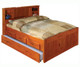 Ridgeline Full Size  Bookcase Trundle Captains Bed   Discovery World Furniture   DWF2121-3DRT