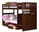 Merlot Mission Stair Stepper Bunk Bed | Discovery World Furniture | DWF2814-CL