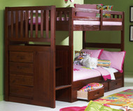 Merlot Mission Stair Stepper Bunk Bed