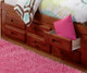 Merlot Full Size Bookcase Captains Bed | 25107 | DWF2821