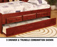 Merlot Full Size Bookcase Captains Bed | Discovery World Furniture | DWF2821