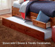 Merlot Full Size Bookcase Captain's Day Bed | Discovery World Furniture | DWF2823