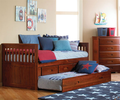 Acadia Captains Trundle Bed   Discovery World Furniture   DWF2835TR
