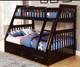Espresso Twin over Full Bunk Bed | Discovery World Furniture | DWF2918