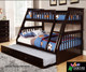Espresso Twin over Full Bunk Bed   Discovery World Furniture   DWF2918