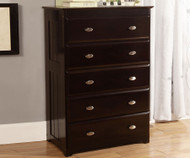 Espresso 5 Drawer Chest | Discovery World | DWF2955