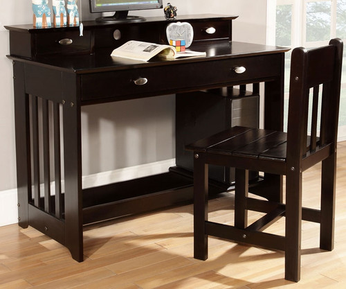 Espresso Student Desk   Discovery World Furniture   DWF2967