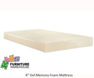 "E-Rest 8"" Gel Memory Foam Twin Size Mattress 