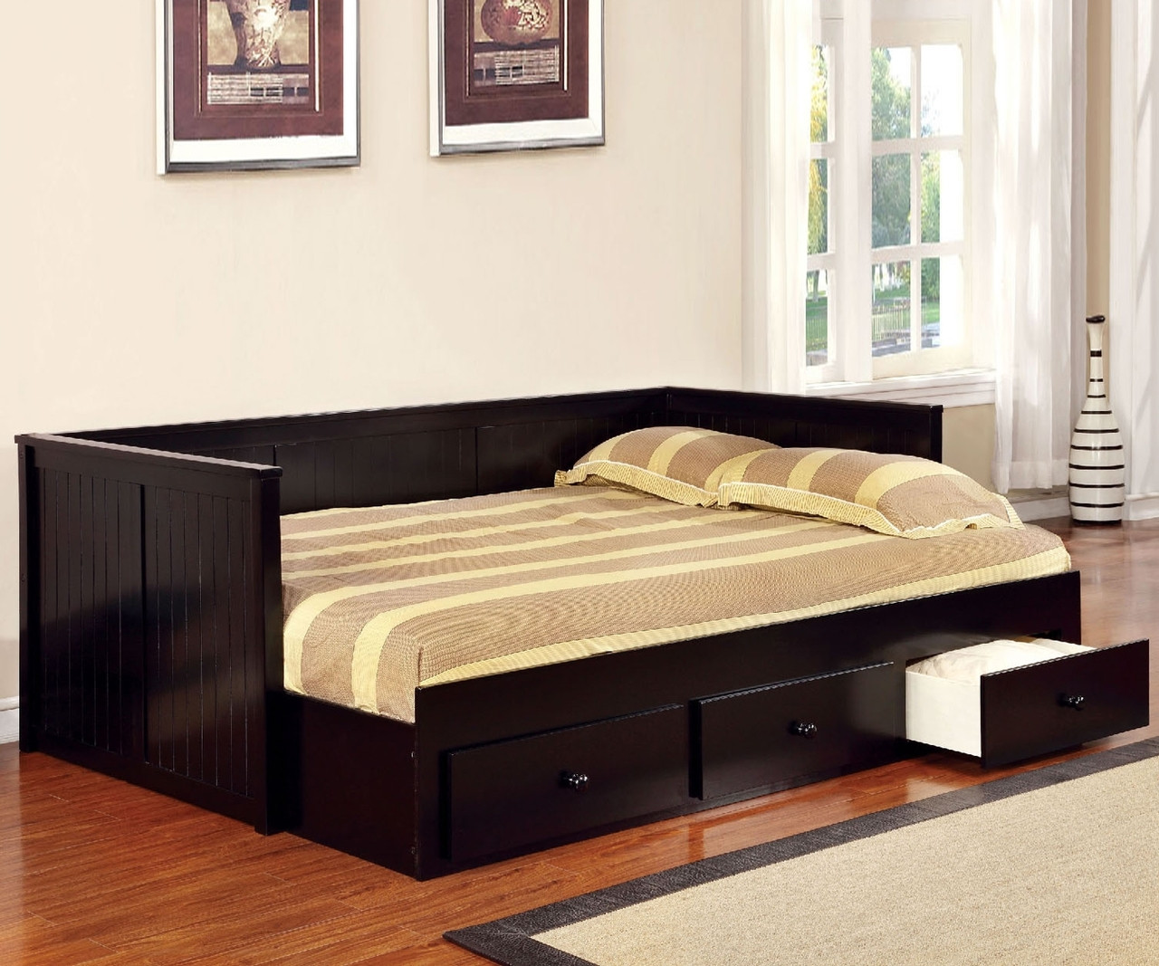 Full Size Wolford Daybed In Black Finish Cm1927bk Furniture Of
