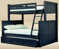 Hampton Twin over Full Bunk Bed Blue | Good Trading | GT-TF83001BLUE