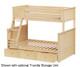 Jackpot Twin over Full Bunk Bed Natural | Jackpot Kids Furniture | JACKPOT-710100TF-001