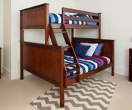 Jackpot Twin over Full Bunk Bed Cherry | Jackpot Kids Furniture | JACKPOT-710100TF-004