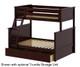 Jackpot Twin over Full Bunk Bed Cherry   Jackpot Kids Furniture   JACKPOT-710100TF-004