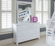 Jackpot 3 Drawer Dresser White | Jackpot Kids Furniture | JACKPOT-714030-002