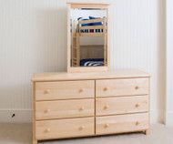 Jackpot 6 Drawer Dresser Natural | Jackpot Kids Furniture | JACKPOT-714060-001