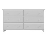 Jackpot 6 Drawer Dresser White | Jackpot Kids Furniture | JACKPOT-714060-002