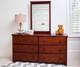 Jackpot 6 Drawer Dresser Cherry | Jackpot Kids Furniture | JACKPOT-714060-004