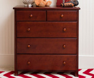 Jackpot 5 Drawer Dresser Cherry | Jackpot Kids Furniture | JACKPOT-714123-004