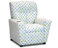 Kidz World Recliner Designer Fabric Bubble Gum Capri | Kidz World | KW1300-BGC