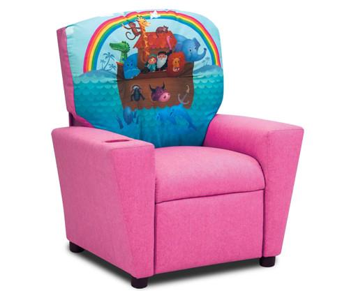 Kidz World Recliner Noahs Ark Pink | Kidz World | KW1300-NAP