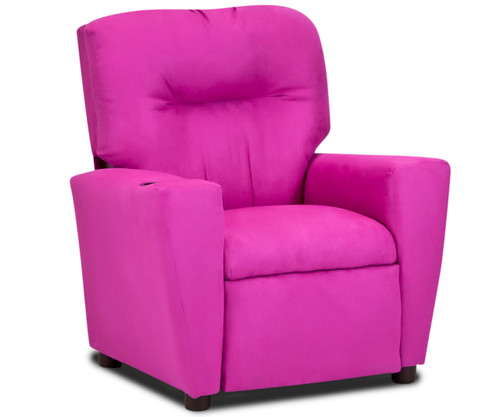Kidz World Recliner Designer Fabric Pink Suede | Kidz World | KW1300-PS