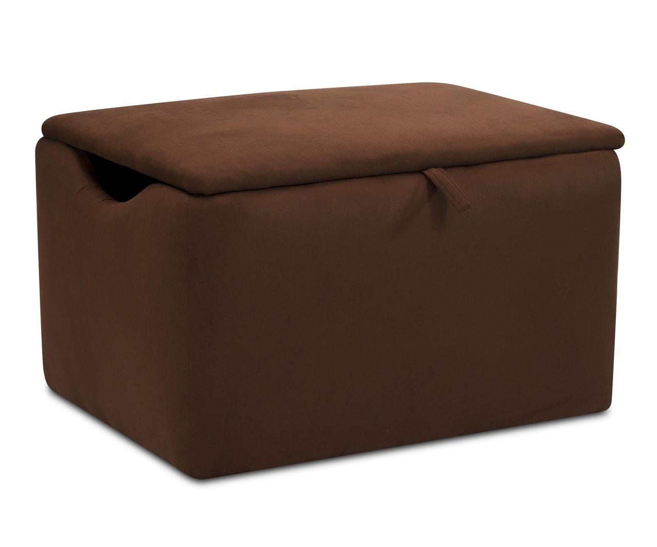 Kidz World Storage Box Designer Fabric Chocolate Suede