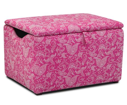 Kidz World Storage Box Designer Fabric Small Paisley Candy Pink | Kidz World | KW1400-SPCP