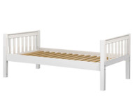 Maxtrix Twin Size Bed White 2 | Maxtrix Furniture | MX-1000-WS