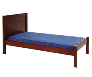 Maxtrix Twin Size Bed with Foot Panel Chestnut 1 | Maxtrix Furniture | MX-1150-CP