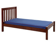 Maxtrix Twin Size Bed with Foot Panel Chestnut 2 | Maxtrix Furniture | MX-1150-CS