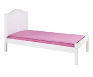 Maxtrix Twin Size Bed with Foot Panel White | Maxtrix Furniture | MX-1150-WC